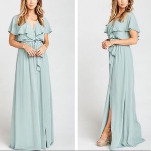 Show Me Your Mumu Audrey Maxi Dress Sage Crisp
